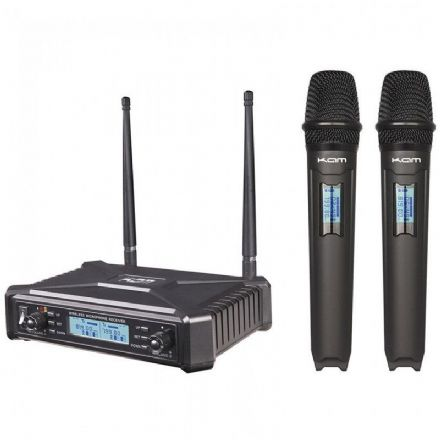 Kam KWM1920 UHF Wireless Dual Handheld Microphone System